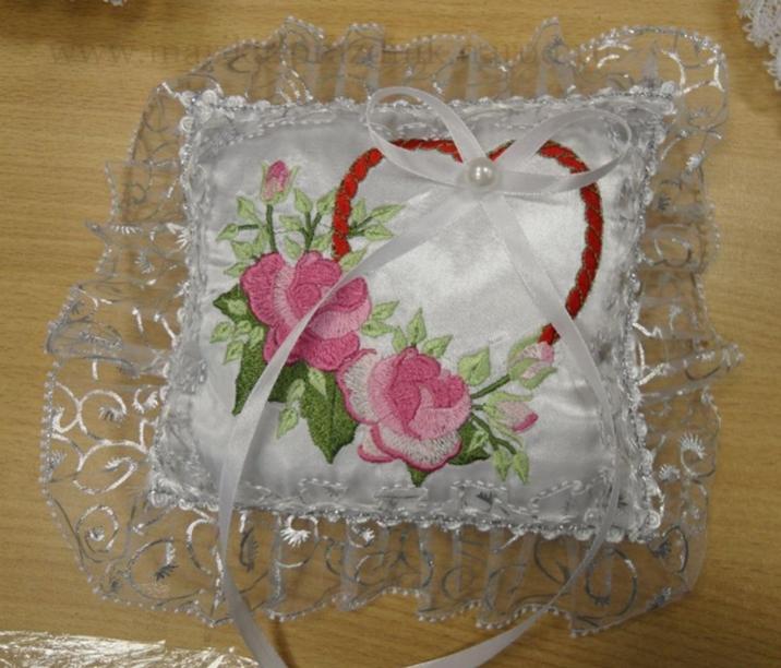 Вышивка лентами для свадьбы 73